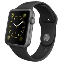 【24期免息】Apple Watch Sport MJ3T2CH/A(42毫米深空灰色铝金属表壳搭配黑色运动型表带)